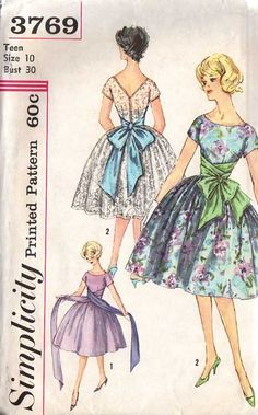 Simplicity 3769 Party dress