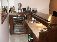 Setting Up a Home Bar With Floor Tiles