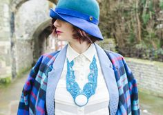 Beat the January Blues | Tru' Lavina  #januaryblues #furla #hat #tartan #lace #art #necklace #accessories #lookoftheday #trulavina #outfitoftheday #outfit #winterblues #winterstyle #style #streetstyle #chic