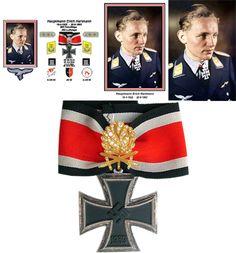 Erich Hartmann Luftwaffe, Cross Of Iron, Erich Hartmann, War Machine, Troops, Ww2, World War, Air Force, History