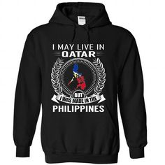 I May Live in Qatar But I Was Made in the Philippines ( - #tee aufbewahrung #tshirt painting. HURRY => https://www.sunfrog.com/States/I-May-Live-in-Qatar-But-I-Was-Made-in-the-Philippines-V2-zrlrxiufxw-Black-Hoodie.html?68278