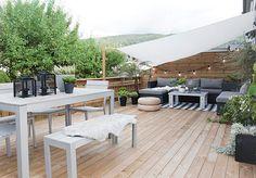Scandinavian Garden and Patio Designs Ideas For Your Backyard - Garden & Terrace - Outdoor Rooms, Outdoor Living, Outdoor Furniture Sets, Outdoor Decor, Terrace Design, Patio Design, Rooftop Design, Garden Design, Terrace Decor