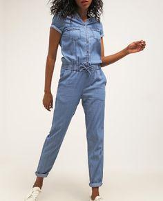 Even&Odd Kombinezon jeansowy mid blue denim