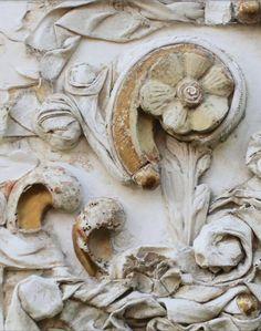 "robert-hadley:  "" 18th Century Italian Fragments Decorated with Canvas Art.  """