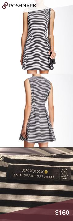 """REDUCED Kate Spade Pleated&Printed Fit&Flare SZ 4 Details: - Crew neck - Back zip closure - Sleeveless - 2 side on-seam pockets - Pleated lower - Allover print - Fit and flare silhouette - Lined - Approx. 34"""" length - Imported Fiber Content: Self: 98% cotton, 2% elastane Lining: 100% polyester Care: Machine wash cold Additional Info: Fit: this style fits true to size. Item is new without tags and has never been worn. Smoke and pet free. Model's stats for sizing: - Height: 5'10"""" - Bust: 31.5""""…"""
