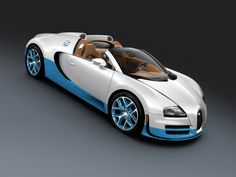 2012 Bugatti Veyron Grand Sport Vitesse Bianco and New Light Blue