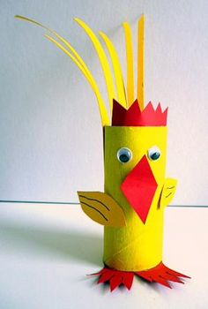 Toilet Paper Roll Crafts - Get creative! These toilet paper roll crafts are a great way to reuse these often forgotten paper products. You can use toilet paper Toilet Roll Craft, Toilet Paper Roll Crafts, Paper Plate Crafts, Animal Crafts For Kids, Spring Crafts For Kids, Diy For Kids, Bunny Crafts, Easter Crafts, Chicken Crafts