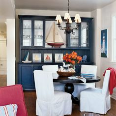 Nautical Dining Room - 20 Beautiful Beach Cottages - Coastal Living