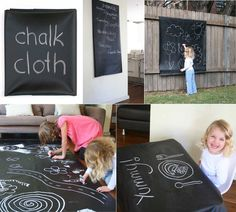 Chalk Cloth Table Mat. Oh the possibilities