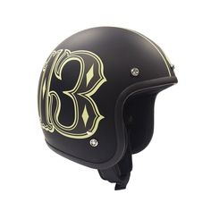 Lucky13 Herren Helmet Number13. Oldschool,Tattoo,Rockabilly,Custom,Biker Style