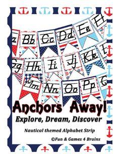 Just Teach D'Nealian Alphabet Line Printable Bulletin Board Set Grade PK