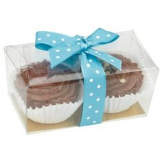 Cupcake chocolates with polka dot ribbon, available in different coloured ribbons.  Makes great wedding and party favours £2.99 each from www.fuschiadesigns.co.uk