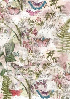 fonds papillons The Effective Pictures We Offer You About Decoupage vintage A quality picture can tell you many things. You can find the most beautiful pictures that can be presented to you about Deco Decoupage Vintage, Decoupage Paper, Vintage Paper, Vintage Art, Decoupage Furniture, Vintage Signs, Decoupage Printables, Printable Scrapbook Paper, Printable Paper