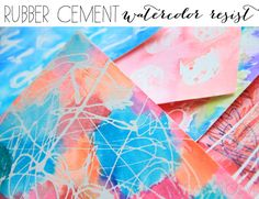 More #watercolor resist art using Rubber Cement! Great for #DIY cards and wall decor. Plus, its quick and easy.