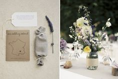 Une touche provençale pour cette déco de table de #mariage #décoration