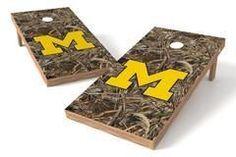 Michigan Wolverines Single Cornhole Board - Realtree Max-5® Camo