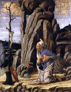The Penitent St Jerome by Marco Zoppo - Hand Painted Oil Painting