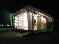 4:10 House    by Bruce Johnson's architecture studio at the University of Kansas    The 4:10 House is a disaster relief shelter designed to accommodate people who have been displaced from their homes due to natural disasters.....