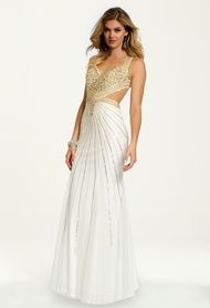 Beaded Cut Out Dress