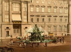 Der Neptunbrunnen im Jahr 1898