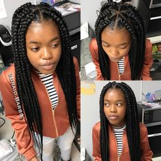 """Likes, 27 Comments - Braid Barbie The Movement (Allison.barbie) on : """"Large Triangle Part Box Braids ✨ Click this image for more info. Large Box Braids, Short Box Braids, Blonde Box Braids, Jumbo Box Braids, Black Girl Braids, Chunky Box Braids, Box Braids Hairstyles For Black Women, Try On Hairstyles, Braids For Black Women"""