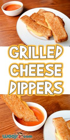 Grilled cheese is a traditional kid food favorite, and today we're making it even more kid friendly with these Grilled Cheese Dippers! Fun Dinners For Kids, Easy Lunches For Kids, Easy Snacks, Kid Lunches, School Lunches, Summer Lunches, Summer Food, Kids Cooking Recipes, Cooking On A Budget