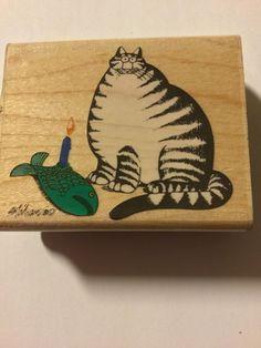 B. Kliban Cat Rubber Stampede New Rubber Stamp Candlelight Dinner  | eBay