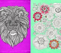 Go Color! These 6 Colour Therapy Colouring-In Pages for Free, (download the .pdf) and Provided by Michael O'Mara Books are really amazing! Lion, Foxes, Flowers, Koi Carps, Pineapple.....each page is giving you a little start and you go on and finish them.....