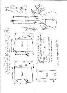 Esquema de modelagem de macaquinho de alças cruzadas tamanho 56.