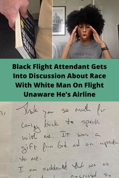 That's how a black flight attendant described her chance encounter with a white passenger, who happened to be reading an interesting book on how white people really suck at talking about racism.