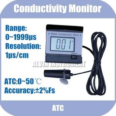 58.50$  Buy now - http://alia6u.worldwells.pw/go.php?t=582655188 - Free Shipping Conductivity Monitor Tester METER Analyzer Range:0-1999uS Resolution:1us ATC 58.50$