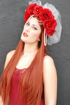 Valentina Red Rose and Pearl Romantic Scarlet by NebulaXcrafts