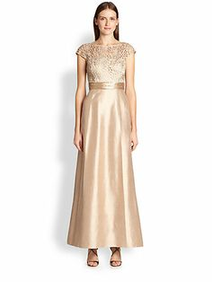 blush gown for mother of the bride