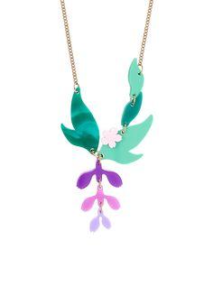 Wisteria Necklace | Tatty Devine – Tatty Devine £45 Plastic Jewelry, Paper Jewelry, Devine Love, Tatty Devine, Pink Acrylics, Modern Disney, Wisteria, Sea Foam, Lilac