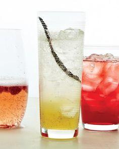 Honey-Vanilla Spritzer.  Honey, vanilla bean, splash of lime, seltzer, splash of vodka if you desire.