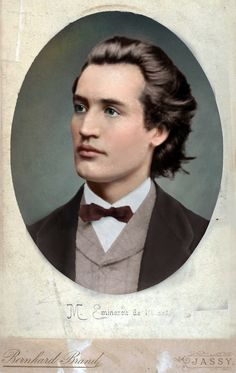 Photographic portrait of Mihai Eminescu posted by Olga. Mihai Eminescu was a Romantic poet, novelist and journalist, often regarded as the most famous and influential Romanian poet. Info via Wikipedia. Photographs Of People, Interesting Reads, Vintage Images, Vintage Men, Digital Image, Pet Portraits, Beautiful Images, Portrait Photography, The Past