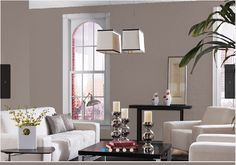2017 Color of the Year Poised Taupe - see it in a beautiful living room.