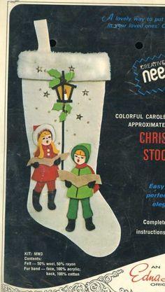 Vintage Christmas Stocking Kit Vintage 1970s Edna Looney Felt Christmas Stocking Kit. $14.00, via Etsy.