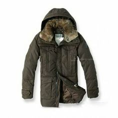 Newest! Moncler Mens Down Coats mid-length In Brown @ cheapmoncleronlinestore.com