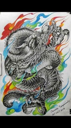 Dragon Tattoo Back, Small Dragon Tattoos, Dragon Tattoo Designs, Japanese Snake Tattoo, Japanese Tattoo Designs, Japanese Dragon, Mosaic Tattoo, Dragon Anatomy, Gamer Tattoos