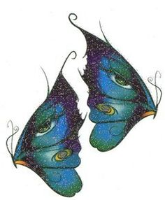 54e99cb3d Turquoise Butterflies Glitter Temporaray Tattoo by Tattoo Fun. $4.95.  Turquoise and blue glitter butterflies