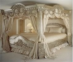 luxury european classical wood carving bed, bedroom furniture / China Bedroom Sets for sale from Bisini Furniture And Decoration Co. Dream Rooms, Dream Bedroom, Home Bedroom, Bedroom Furniture, Bedroom Decor, Master Bedroom, Royal Bedroom, Mansion Bedroom, Bedroom Wardrobe