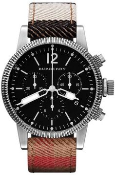 Burberry Brit Mens Watch - Lyst  Burberry bu7815 brit mens watch. a collection of vintage-inspired watches from a british brand. these styles are inspired by the military heritage of burberry. oversized faces, antique gold finishes and iconic coin-edge top rings create a vintage look. presented in an iconic burberry gift box.. Watches. Men. Leather. 100 metres water resistant. 2 year guarantee