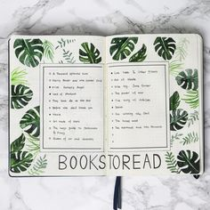 Bullet journal with green plants, designed by me. Insta: emmysdaydream Bullet journal with green plants, designed by me. Bullet Journal Planner, Bullet Journal 2020, Bullet Journal Aesthetic, Bullet Journal Notebook, Bullet Journal Themes, Bullet Journal Inspo, Bullet Journal Spread, Bullet Journal Layout, Book Journal