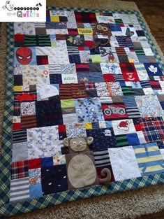 Baby Clothes Quilt by Lux Keepsake Quilts....a unique way to create an awesome quilt!