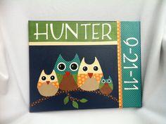 Owl Family. $45.00, via Etsy.