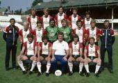 1981 Southampton FC First Team Squad 19811982 Back row leftright Graham Baker Nick Holmes Chris Nicholl Trevor Hebberd Steve Moran Middle row...