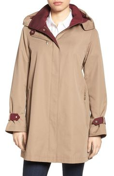 Hooded Single Breasted A-Line Coat | Products and Buttons