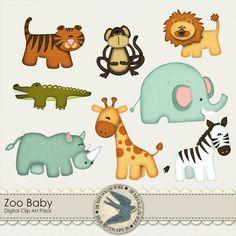 Zoo Baby Digital Clip art Pack. $2.00, via Etsy.
