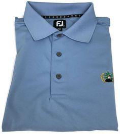 Footjoy Golf Shirt XXL Mens Short Sleeve Polo FJ Pique Knit Blue Men Size Sz 2XL #FootJoy #PoloRugby